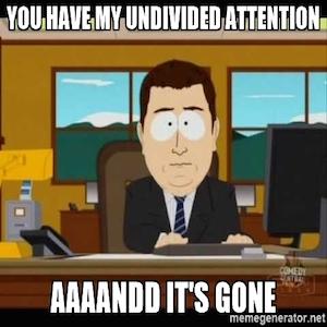 my undividied attention